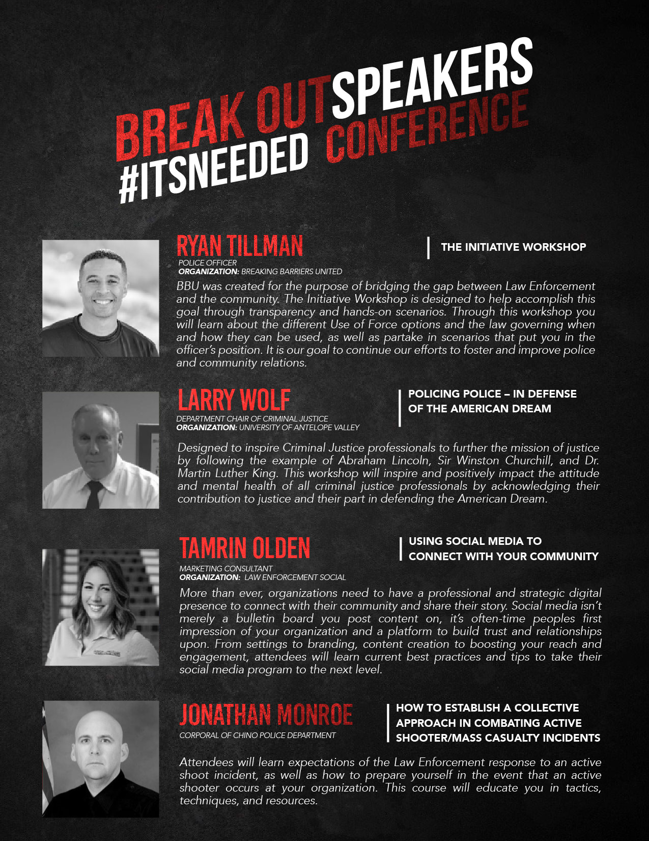 #ITSNEEDED Conference Flyer